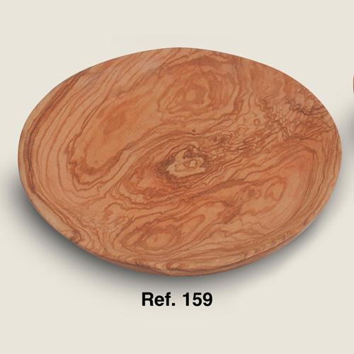 Platos de madera de olivo